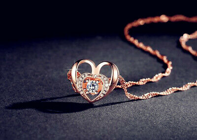 Rose Gold Star Pendant 925 Sterling Silver Chain Necklace Womens Jewellery Gift
