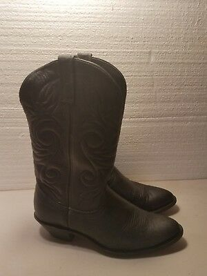 78bdb687645 LAREDO 51071 WOMENS Abby Black Leather Ropers Cowboy Western Boots ...
