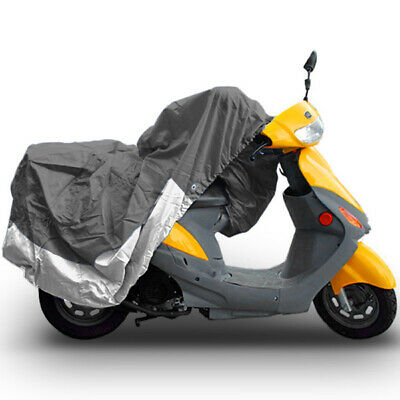 """Motorcycle Dust Cover Grey/Silver Medium 80"""" Length Indoor Storage Protection"""