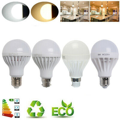 E27 B22 3W 5W 7W 9W 12W 15W LED Light Globe Bulb Golf Ball Warm Day White Lamps