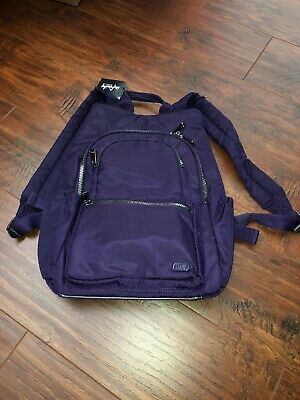 1227332a6b Lug Travel HATCHBACK Backpack RFID protection School nwt Work concord purple