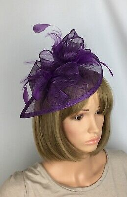 56d4048f STUNNING PURPLE WEDDING Occasion Hatinator Hat Fascinator Mother Of ...