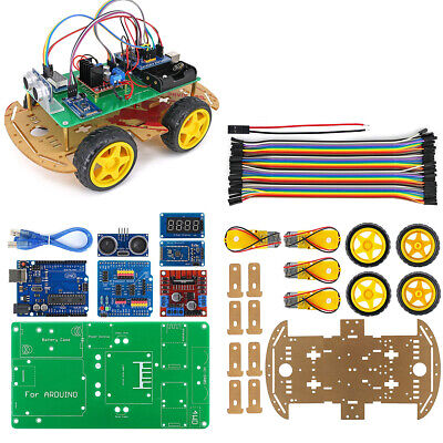 4WD Smart Robot Car Kit with Installation Tutorial & Demo Code for Arduino