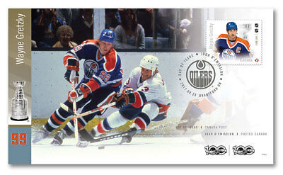 Edmonton Oilers Canada Post Ofdc 2017 Wayne Gretzky Official First Day Cover