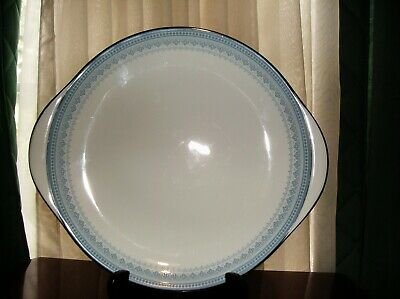 """HTF Early 1970's Royal Doulton Lorraine H5033 10 1/2"""" Handled Cake Plate"""