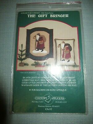 The Gift Bringer Country Appliques Christmas Pattern - Olde Santa Series Quilt
