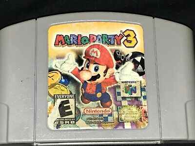 Mario Party 3 (Nintendo 64, 2001) Cleaned / Tested / Authentic - N64 -
