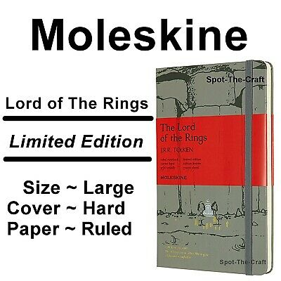 Moleskine Notebook Lord of The Rings Moria Ruled Large Hard Cover Gray