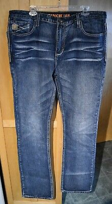 3ee8d14d398 Cinch NWT Ian Mid Rise Slim Fit Bootcut Mens Blue Jeans Size 38 x 38 New