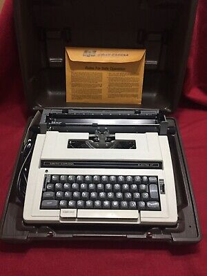 Smith Corona Electra XT 3L Portable Electric Typewriter w/Hard Case + Manuals