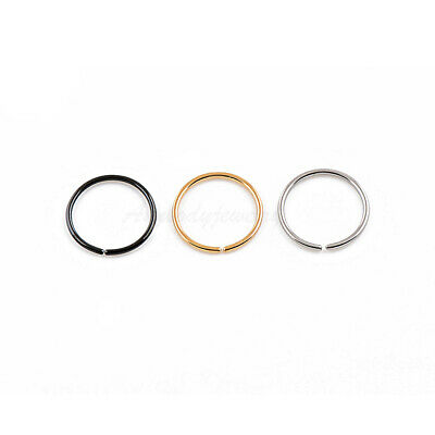 "20G 18G 5/16"" 3/8"" Gold Plated on Steel Seamless Fake Nose Hoop Ear Tragus Ring"