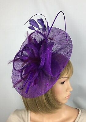 Purple Fascinator Hatinator Mother Of The Bride Occasion Wedding Races Ascot Hat