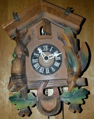Black Forest Cuckoo Clock Hunter Style (Parts or Repair)