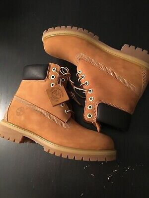 ea1e51ce9b7 New DS Timberland Premium 6 Inch Wheat Nubuck Waterproof Boots 10061 8.5  Leather