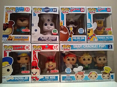 Funko Pop Ad Icons Lot Rice Krispies Doughboy King Ding Dong Noid Twinkie + More