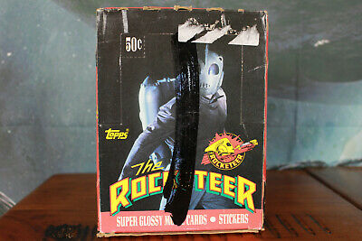 The Rocketeer Trading Card Box with 36 packs Topps 1990