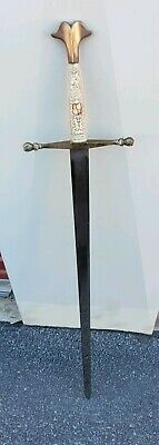 "Vintage Knight's Sword Made In Toledo, Spain Blade length 32.75"", overall 40"""