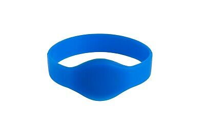 CL -WB-S-001-OV- Blue Silicone Wristband - 13.56MHz Bags of 10