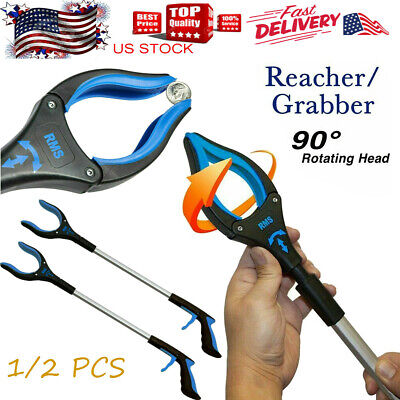 "26"" RMS Handi Grip Reacher Grabber Reaching Aid Trash Easy Pick Up Tool 1/2 Pcs"