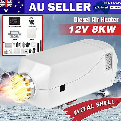 12V 8KW Metal Shell Diesel Air Heater w/ LCD Thermostat Remote Control Car Truck