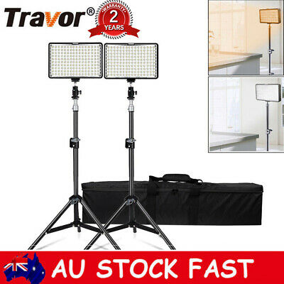 2 in 1 160pcs LED Video Studio Camera Panel Light Ultra High Power + 2m Stands
