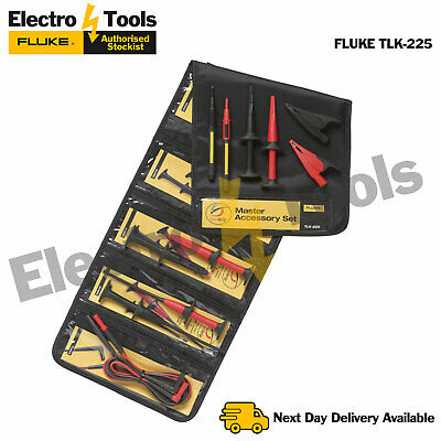 Fluke TLK-225 SureGrip™ Probes, Clips ,Storage Case & Lead Accessory Master Set