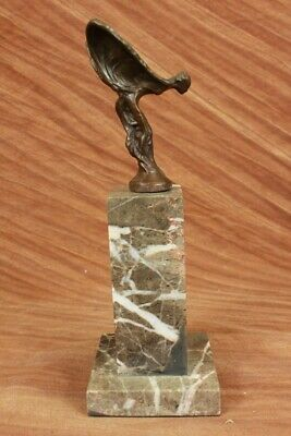 "Flying Lady ""Spirit of Ecstacy"" Statue Rolls Royce Symbol Solid Bronze Sculpture"