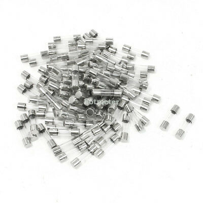 H● 100 Pcs 1A 250V Fast Blow Acting Metal Cap Both End 5mm x 20mm Glass Fuse