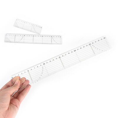 Quilting Sewing Patchwork Foot Aligned Ruler Grid Cutting Edge Tailor Craft~GN