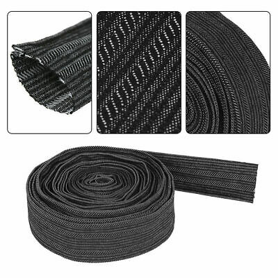 25 Ft Protective sleeve Nylon Sheath Cable Cover Welding Torch Hydraulic Hose