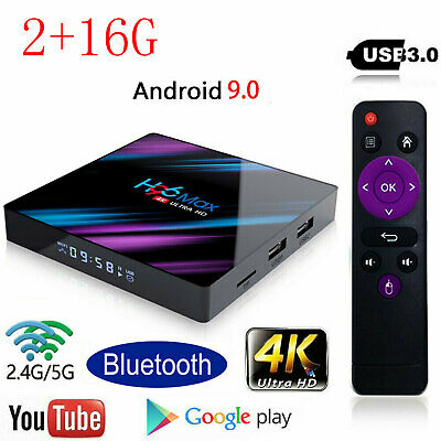 H96 MAX RK3318 Android 9.0 2G+16GB Quad Core 4K BT 4.0 HDMI LED TV Boxes Wifi UK