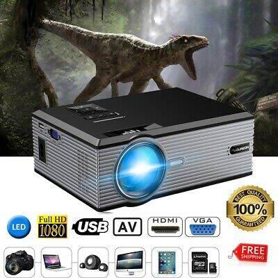 FLOUREON BL88 1080p HD proyector LCD LED 3000 Lúmenes VGA USB AV SD HDMI TV ES