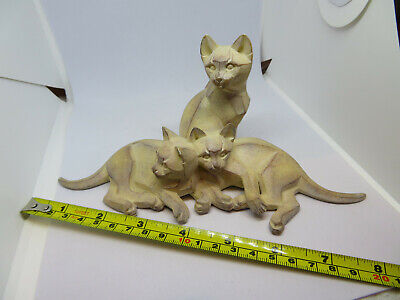 3 cat cats ornament figurine by R Roberts