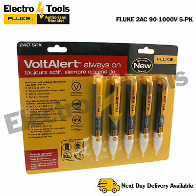 Fluke 2AC Volt Alert  Voltage Tester Detector Pocket Pen Stick 5 Pack Genuine UK