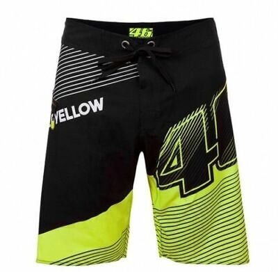 Mens VR46 MotoGP Boarder Shorts Valentino Rossi The Doctor VALEYELLOW 46 Shorts