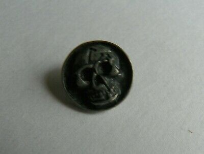 10 x SKULL ROUND CONCHO 15 x 15 mm 925 Antique Silver NEW