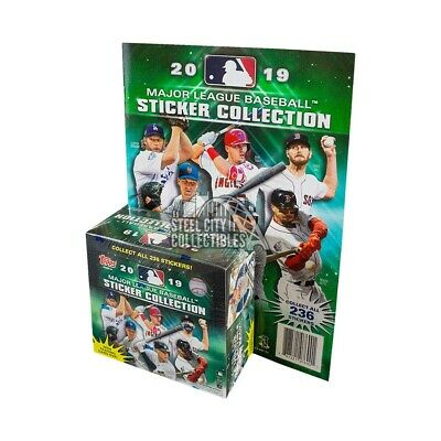2019 Topps MLB Sticker Collection Baseball Box w/ Album