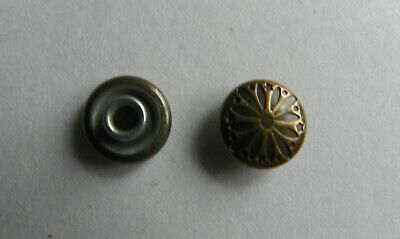 50 x SMALL PATTERNED ROUND CONCHO 10 x 10 mm Antique Brass NEW
