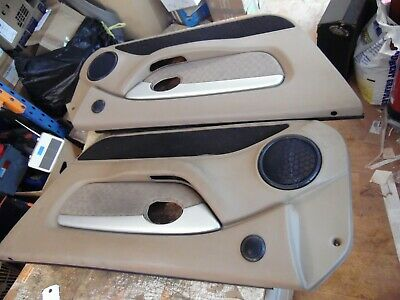 MGF MG TF DARK TAN Door Cards Complete with Cappings and Inserts