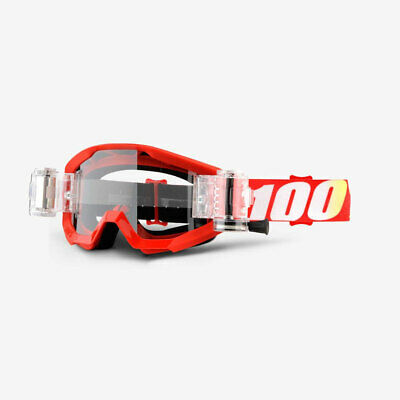 100% Strata SVS/Roll-Off MX Motocross Goggles - Furnace w/Clear Lens