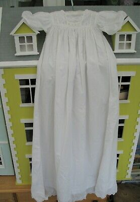Victorian Baby Christening Gown or Night Gown White Cotton Doll – A