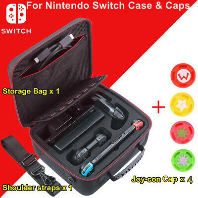 Nintendo Switch Black Deluxe Carrying Case Travel Bag Case Storage &Accessories