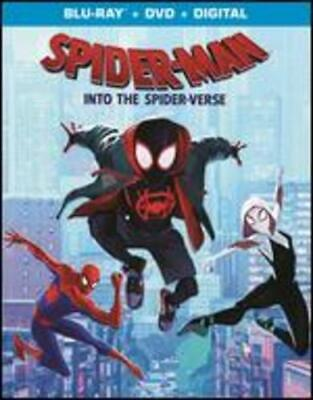 SPIDERMAN INTO THE SPIDERVERSE (Blu-Ray/DVD, 2019, Includes Digital Copy) NEW