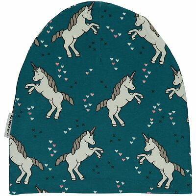 Unicorn organic cotton beanie hat Maxomorra 12 18-24 2 3 4 5 6 7 8 9 10