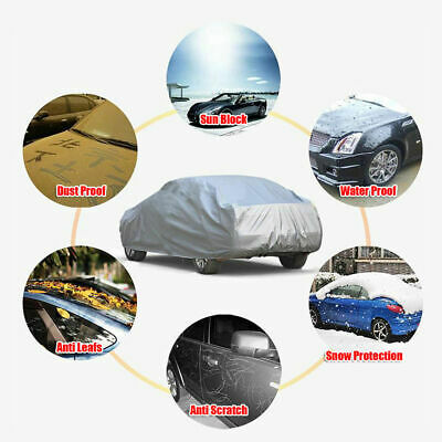 Car Cover XL Large Universal Full-size Folding Water Resistant Sun UV Protection