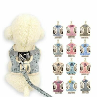 Breathable Soft Vest Harnesses For Pets Korean Style For Dog Cat Printed Harness