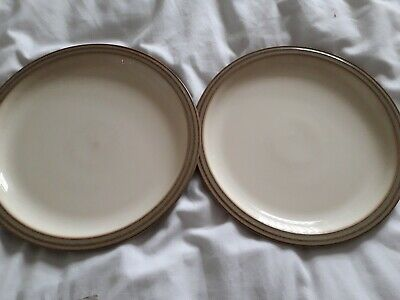 """Denby Heritage Orchard x 2 Dinner Plates - 10"""" - Excellent condition"""