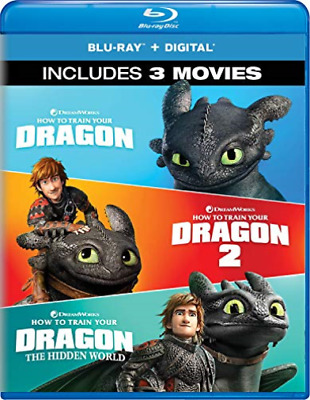 HOW TO TRAIN YOUR DRAGON: 3...-HOW TO TRAIN YOUR DRAGON: 3-MOVIE COL Blu-Ray NEW