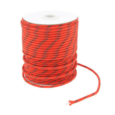 1 Roll Reflective Nylon Cord Tent Canopy Guyline Rope Packaging Line,5mmx50m