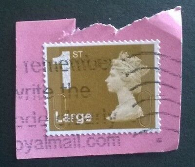 1 Used Gb 1St Gold Large Letter Security Machin Stamp Mail (2009) Foyal Sg U2990